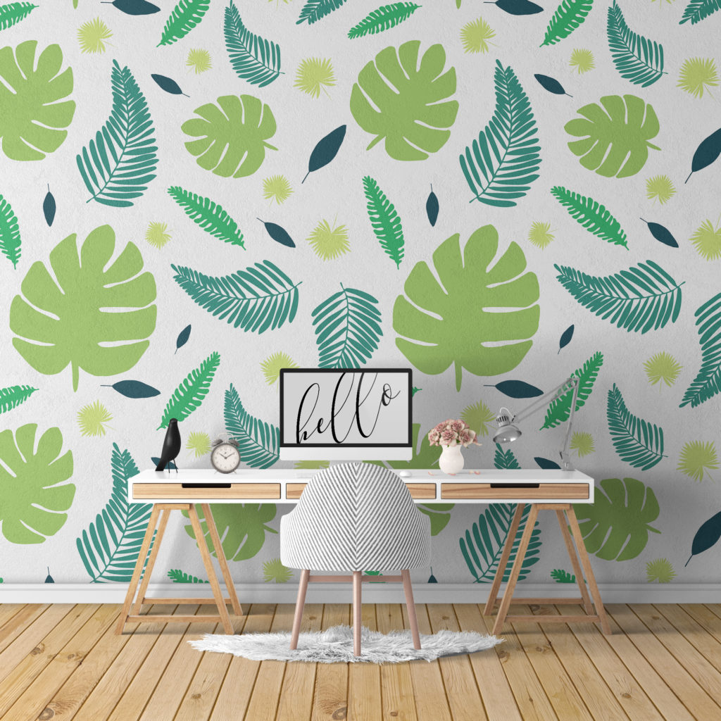 Hand Drawn Tropical Pattern Wallpaper Es